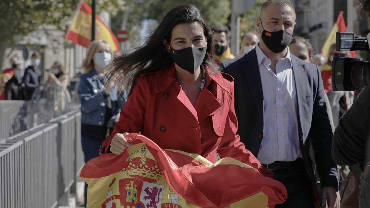 Rocío Monasterio en el Día de la Fiesta Nacional. Foto: Europa Press
