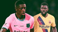 El Barça quiere bajar el sueldo de Umtiti y Dembelé más que el del resto.