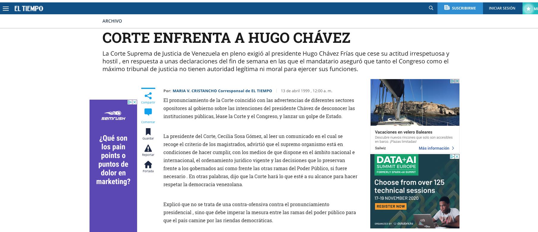 Hugo Chávez cambió la ley en 2004 para controlar el Poder Judicial como quieren PSOE y Podemos