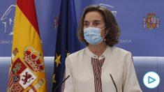 Cuca Gamarra acusa a Sánchez de «conductas dictatoriales» y califica de «fraude» su reforma del CGPJ