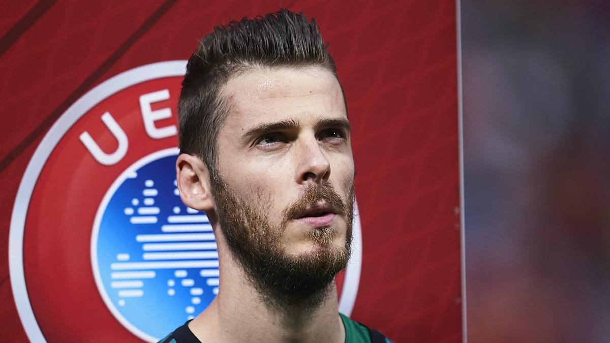 De Gea, en un partido con España.