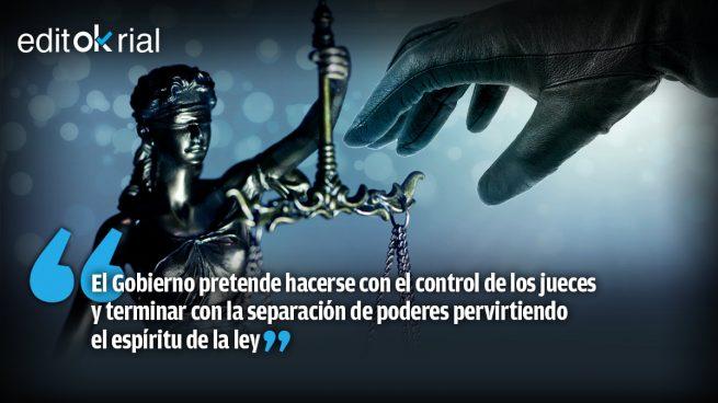Si Sánchez e Iglesias asaltan el Poder Judicial, se acabó la democracia
