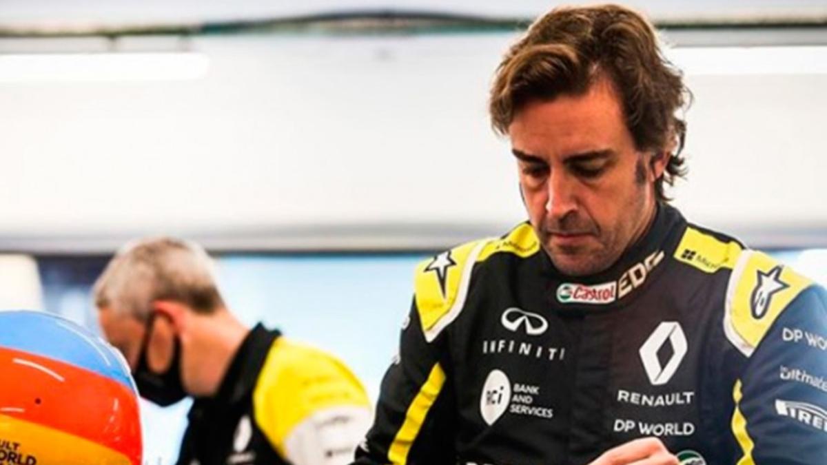 Fernando Alonso con Renault. (@RenaultF1Team)