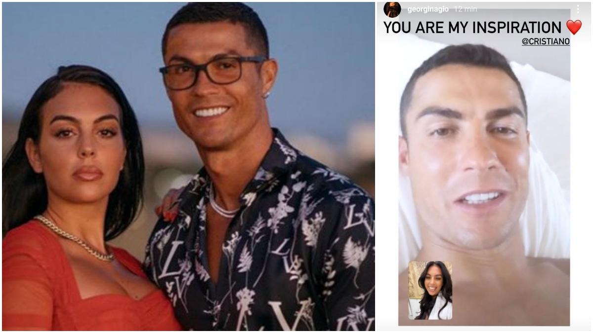 Georgina Rodríguez y Cristiano Ronaldo ya aislado.