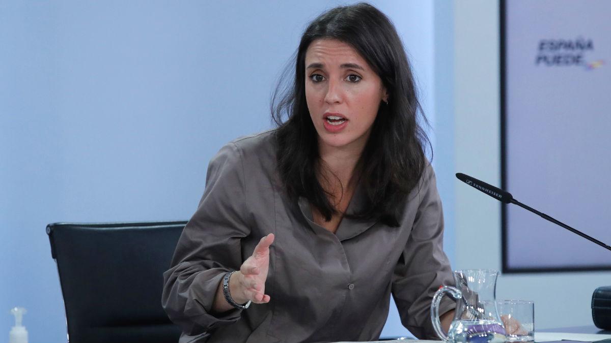 La ministra de Igualdad Irene Montero.