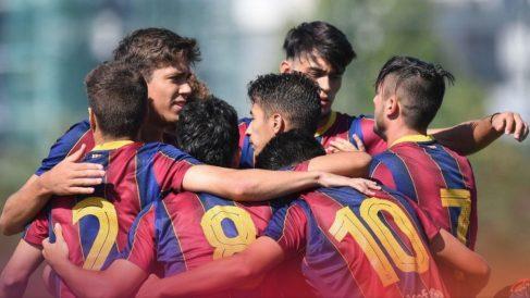Jugadores de la cantera del Fútbol Club Barcelona. (FCBarcelona)