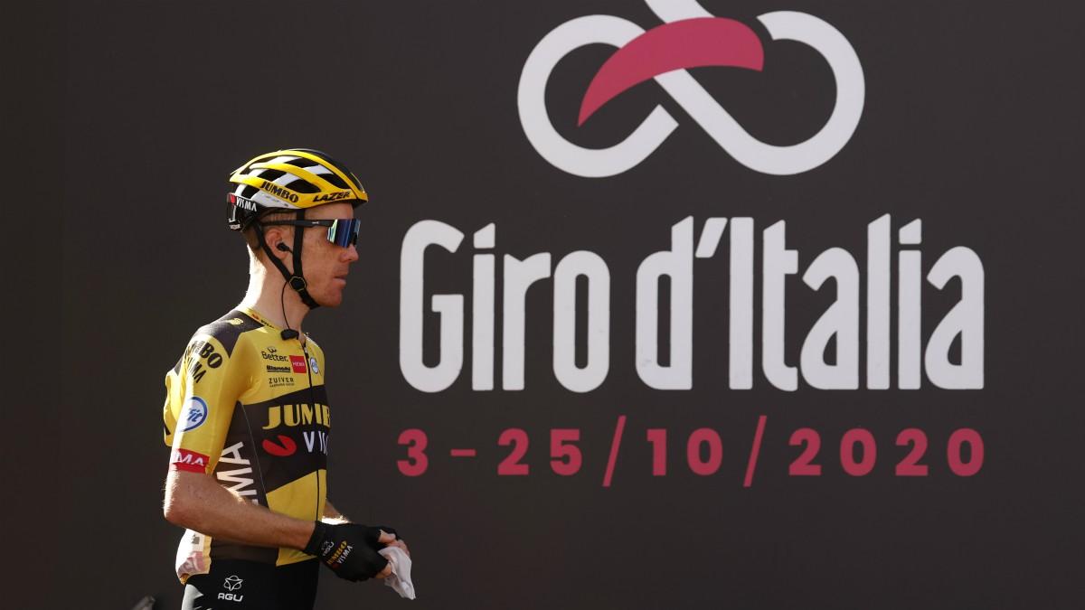 Kruijswijk, en la salida del Giro. (AFP)