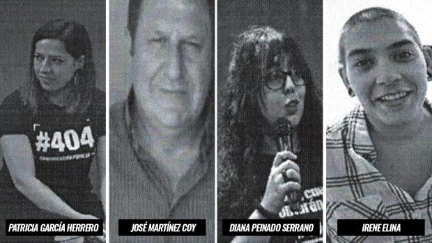 Miembros de Podemos que forman parte de la Asociación #404 Comunicación Popular.