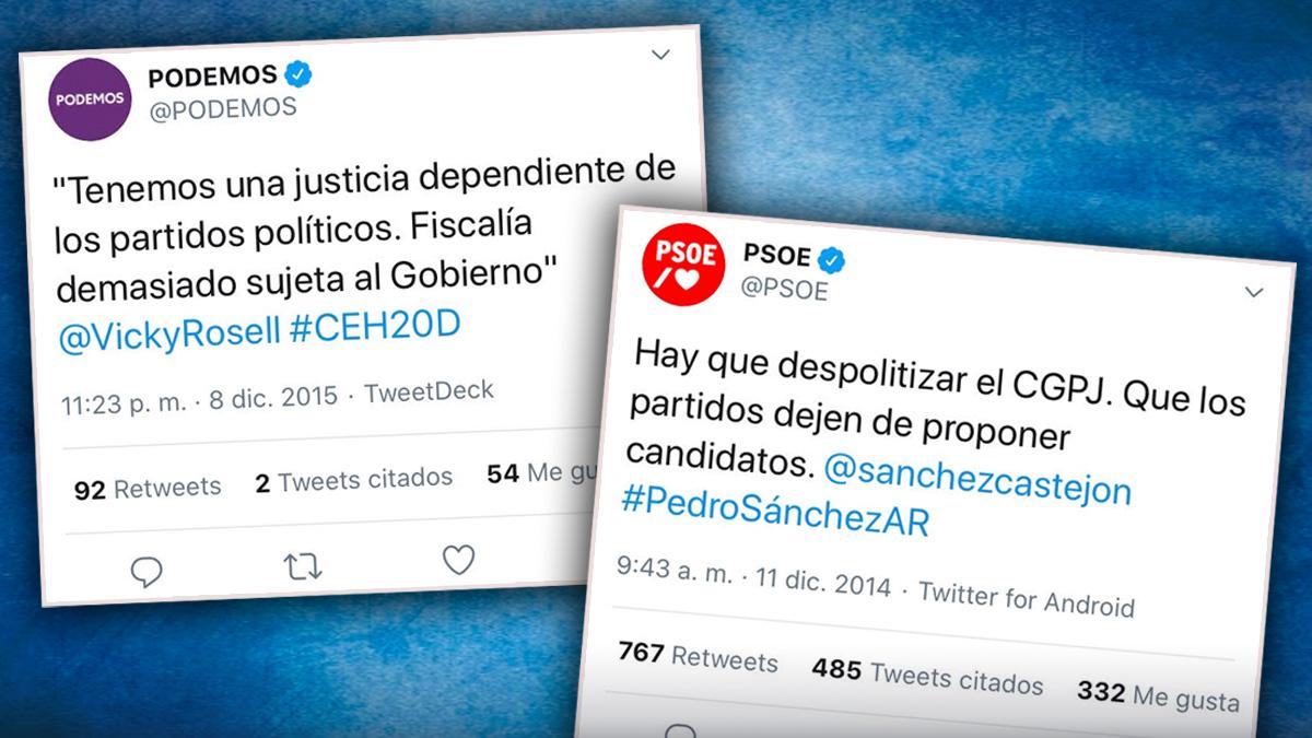 Cuando PSOE y Podemos se comprometieron a «despolitizar» el CGPJ.