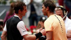 Murray felicita a Nadal tras un partido. (Getty)