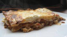 Receta de Lasaña de cordero cocinado a baja temperatura y espinacas