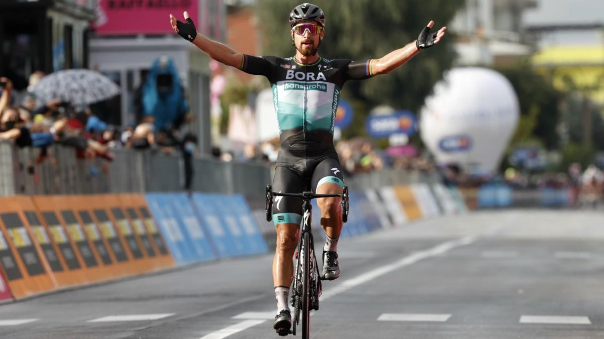 Giro de Italia 2020: clasificación de la etapa 10 de hoy, martes 13 de octubre, tras la victoria de Sagan. (AFP)