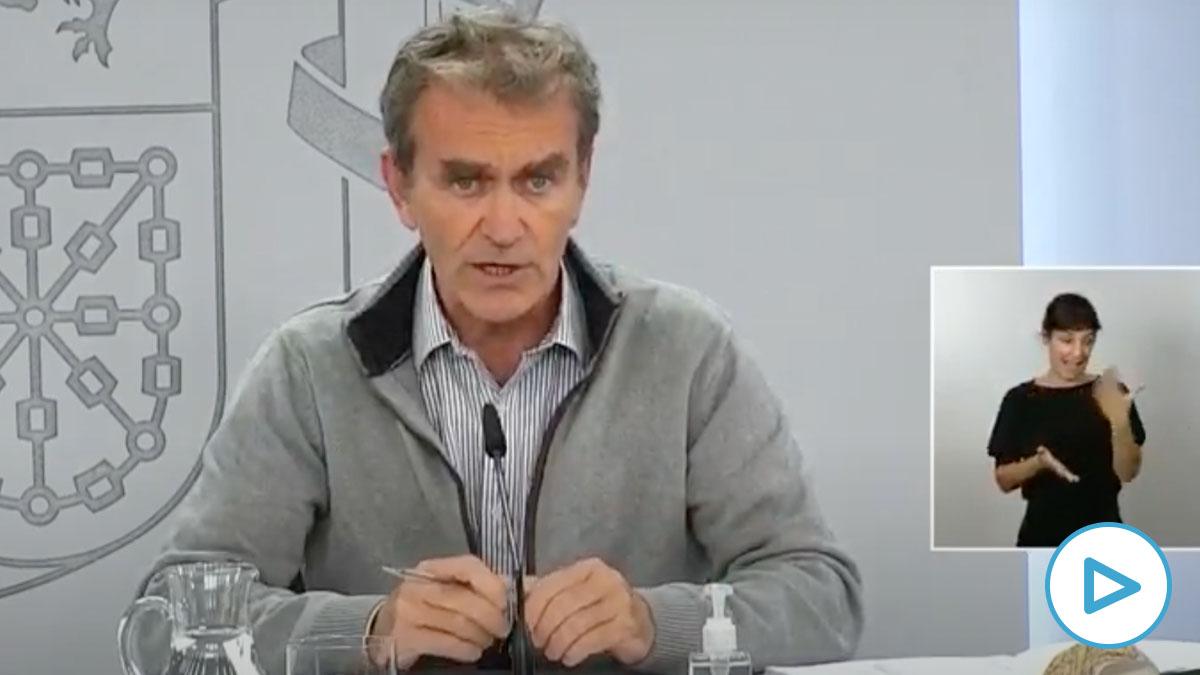 Fernando Simón dice que Madrid sigue por encima de los 500 casos de incidencia.