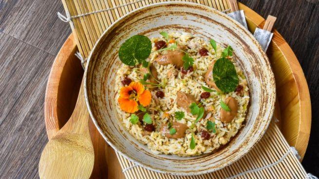 Receta de arroz integral con verduras y setas