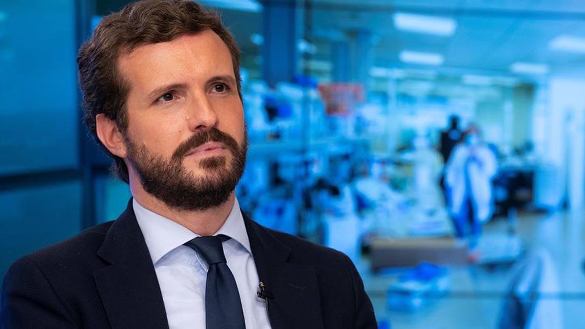 El presidente del Partido Popular, Pablo Casado. (Foto: EFE)