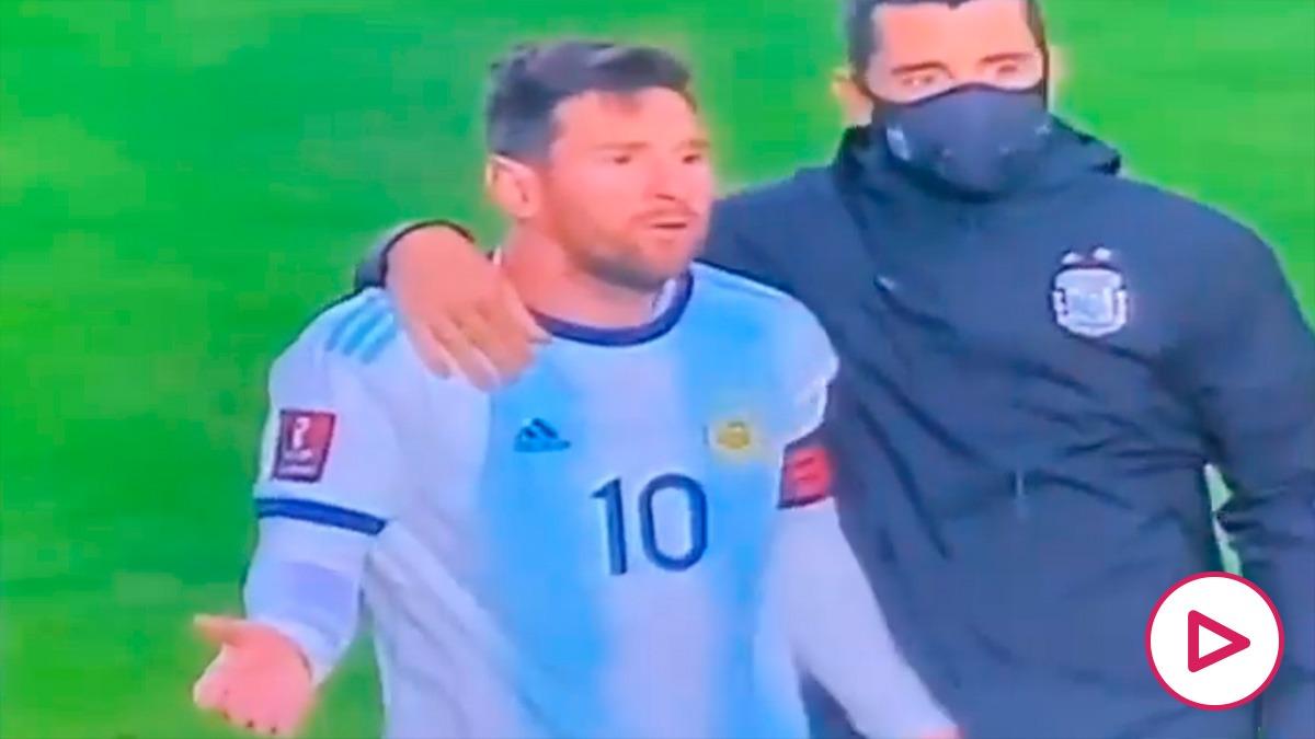 La bronca de Messi en La Paz. (@kunaguero)