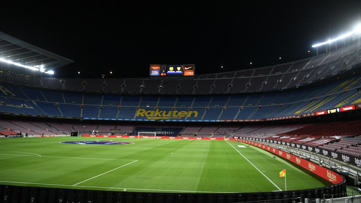 El Camp Nou antes del Barcelona-Sevilla. (Getty)