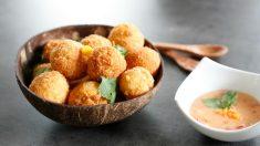 croquetas de maíz y queso