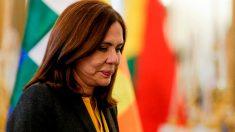 La ministra Longaric en la entrevista que concedió a OKDIARIO en enero de 2020.
