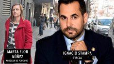 Marta Flor Núñez y el fiscal Ignacio Stampa