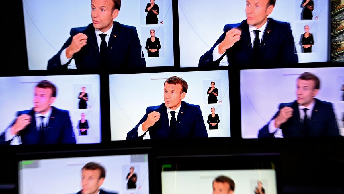 Emmanuel Macron anuncia medidas contra el coronavirus (Foto: AFP)