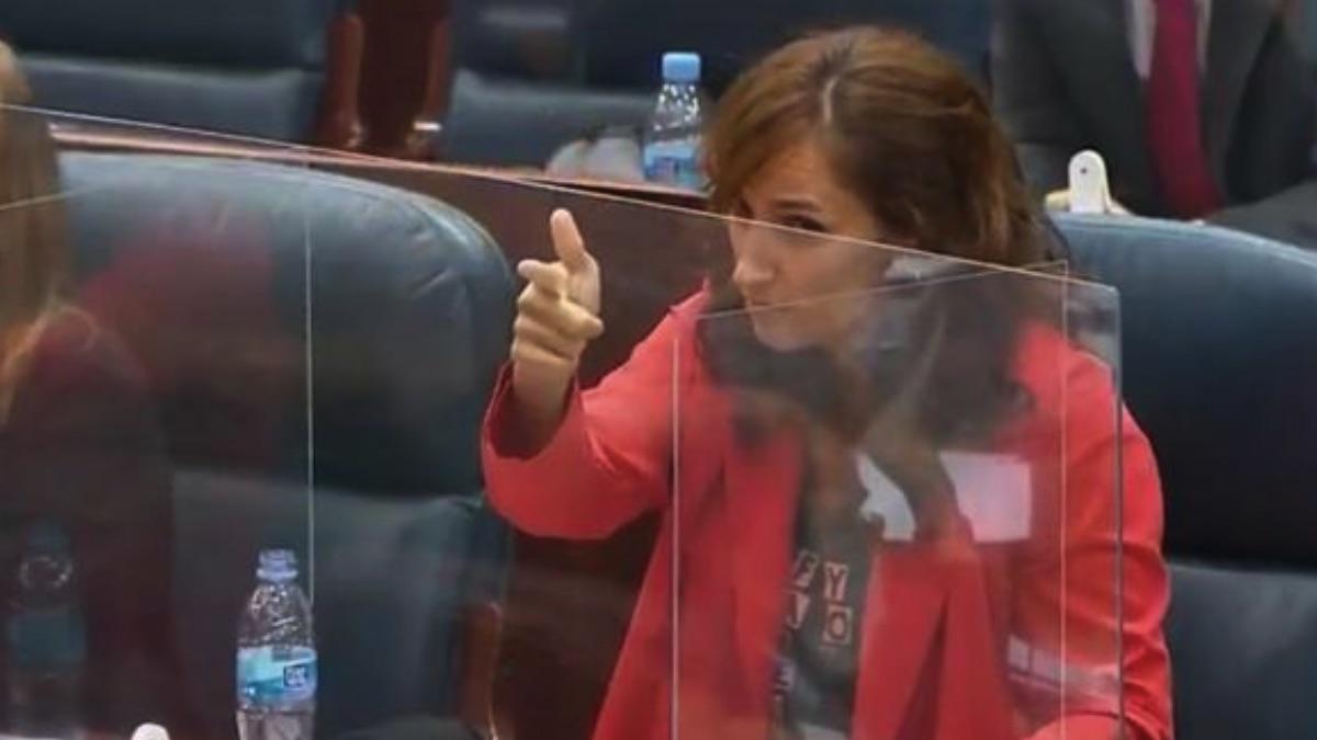 Mónica García, líder de Más Madrid en la Asamblea.