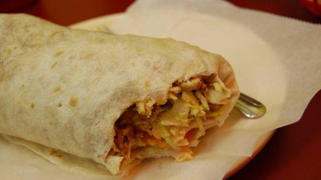 Receta de Burritos con frijoles y pollo