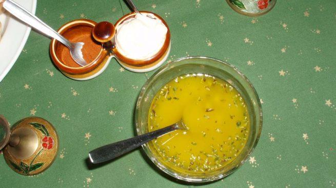 Vinagreta de albahaca y limón