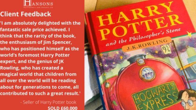 Tienes una primera edición de un libro de Harry Potter