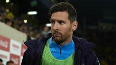 Leo Messi durante una suplencia de la pasada temporada. (Getty)