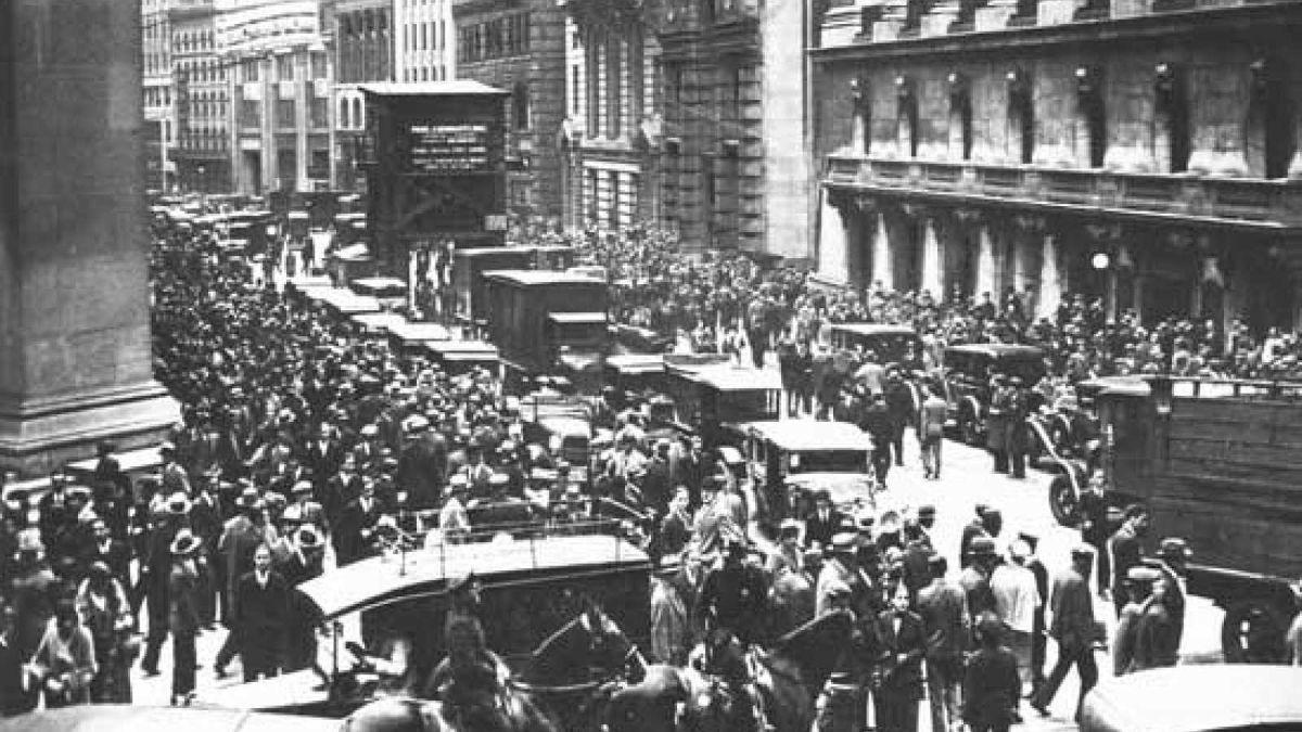 El 24 de octubre de 1929 se produjo el Jueves Negro de Wall Street