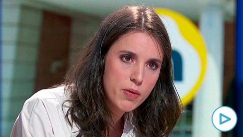 Irene Montero en 'La Hora de la 1' de TVE.