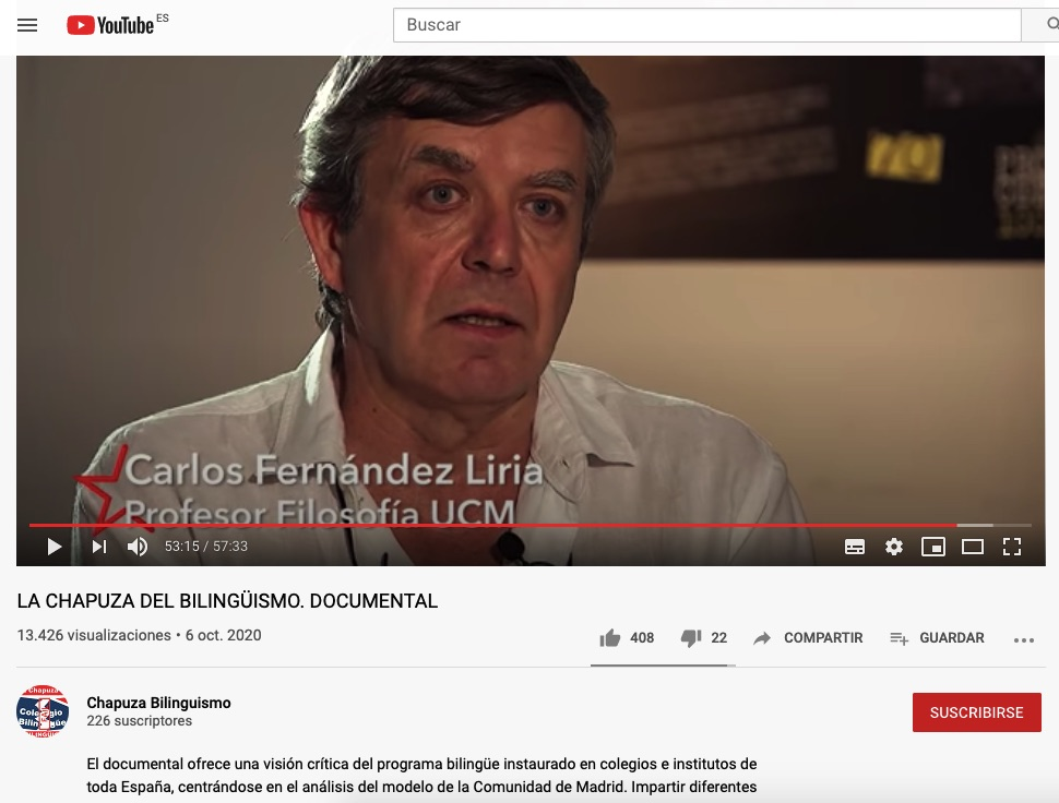 Podemos monta un documental con testimonios 'fake' para defenestrar la educación bilingüe en Madrid