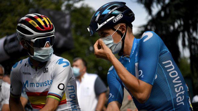 Alejandro Valverde y Enric Mas