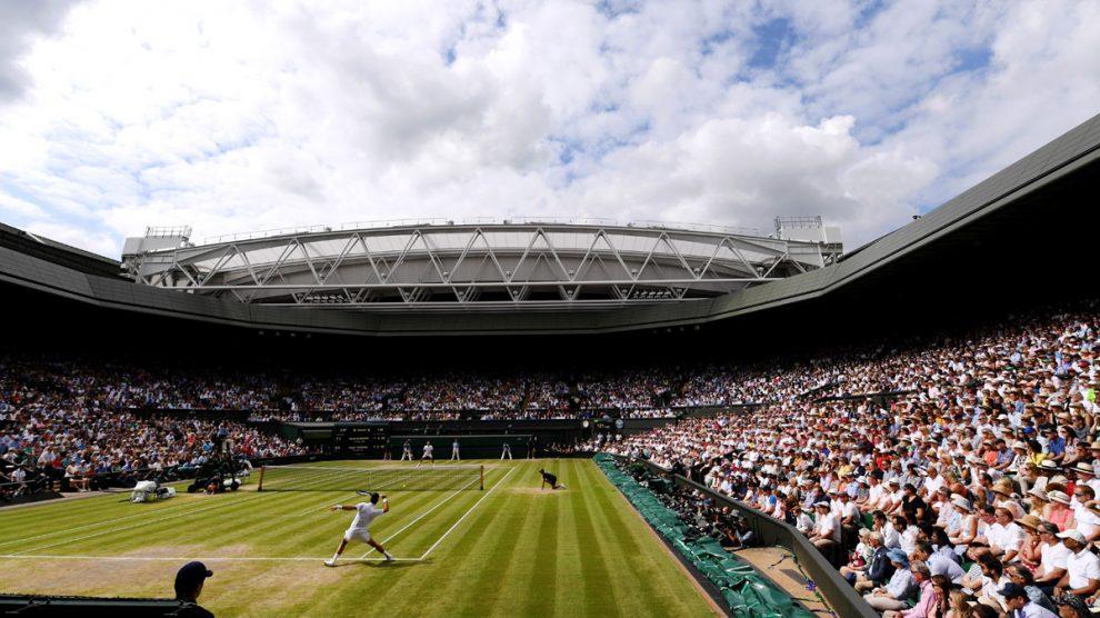 La final entre Djokovic y Federer en 2019 fue el último partido disputado en Wimbledon (Getty)