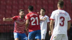 Yangel Herrera anotó el gol de la victoria ante el Sevilla. (AFP)
