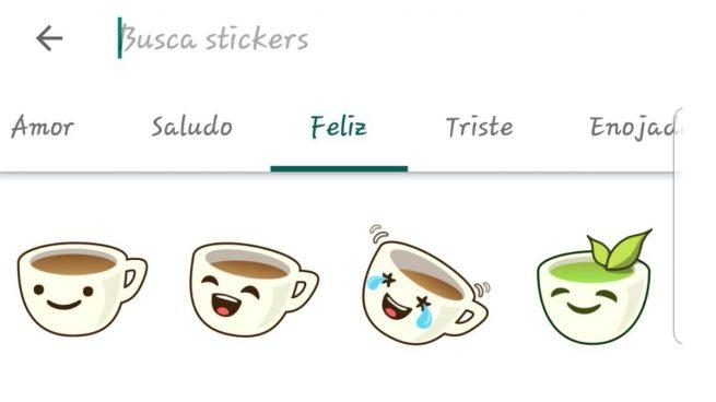 Así es el nuevo buscador de stickers de WhatsApp