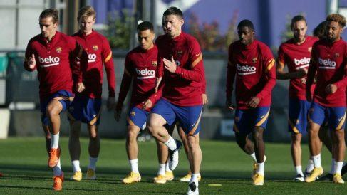 Los jugadores del Barcelona durante un entrenamiento. (fcbarcelona.es)
