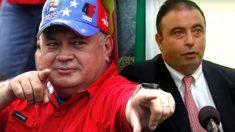 El número 2 del régimen chavista, Diosdado Cabello, y el consejero delegado de Cárnicas Joselito, Juan Luis Gómez.