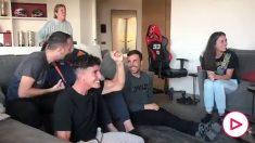 La locura de Marc Márquez viendo y celebrando el podio de su hermano