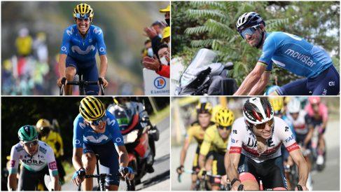 Los favoritos españoles en la Vuelta a España 2020. (AFP)
