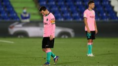 Messi, durante el Getafe – Barcelona. (Getty)