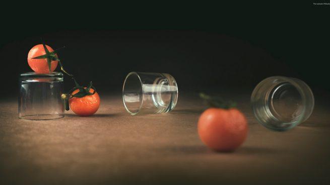 Chupitos de gazpacho