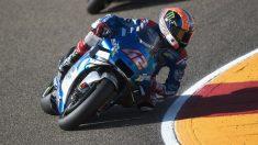 Álex Rins durante el GP de Aragón de MotoGP. (Getty)