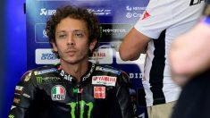 Valentino Rossi durante el GP de Anadalucía de MotoGP. (AFP)