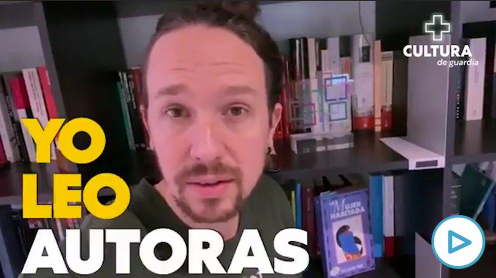 Campaña de Podemos del Dia de las Mujeres Escritoras donde sólo aparecen hombres.