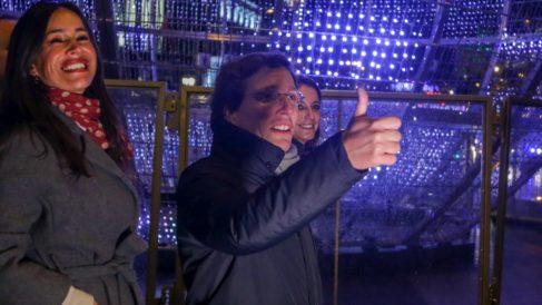 El alcalde José Luis Martínez-Almeida en el encendido de luces el año pasado. (Foto: EP)