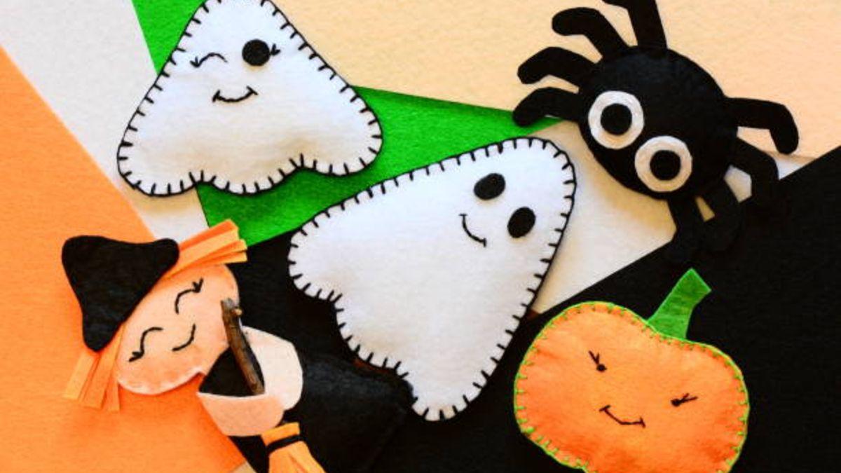 Pasos para hacer manualidades de fieltro para Halloween con los niños