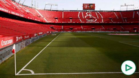 Interior del Estadio Ramón Sánchez-Pizjuán. (Getty)