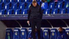 Ronald Koeman, durante el partido del Getafe. (AFP)